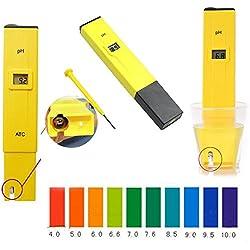 Pocket Pen Urine Lab Monitor Digital pH Tester Meter LCD Aquarium Pool Water