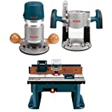 Bosch 1617EVSPK 12 Amp 2-1/4-Horsepower Plunge and Fixed Base Variable Speed Router with Benchtop Router Table
