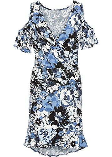 Imprimé Floral Mini Robe De Soirée Bleu Sundress Aecibzo Épaule Froid Occasionnel Des Femmes