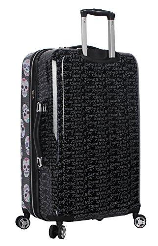 BETSEY JOHNSON Skull Party 3 Piece Expandable Hardside Spinner Luggage Set