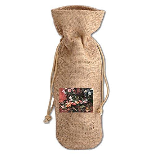 Roses #4 (Lovis Corinth) Jute Burlap Burlap Wine Drawstring Bag Wine Sack Corinth Rose