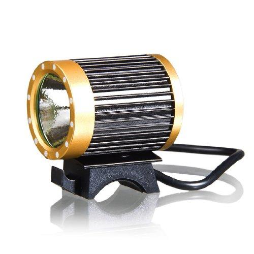 KINFIRE CREE-T6 LED Headlamp Headlight Protable Bicycle Bike Light 18650 Battery EU Plug Charger - Black and Yellow