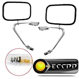 ECCPP Manual Side View Mirrors Chrome Pair Set for 80-96 Ford F-Series F150 F250 F350 Bronco Pickup Truck SUV