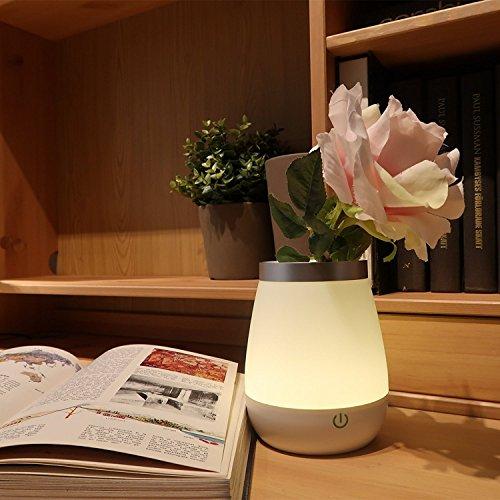 [LED Vase Lampe] Ohuhu® 350ml 2 en 1 LED Vase Lampe de Table Lampe de bureau Garderie Lampe de la Nuit Bébé Lumière Lampe de Chevet USB Rechargeable pour Chambre / Enfants / Salon Décoration