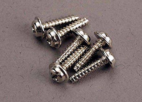 Head Traxxas Washer Screws - Traxxas 3286 Screws 3x12mm Washerhead Self-Tapping (6)