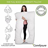 U-Shape-Full-Body-Pregnancy-Pillow-Hypoallergenic-Maternity-Support-Cushion-for-Pregnant-or-Nursing-Women-Comfortable-and-Therapeutic-Machine-Washable-By-ComfySure