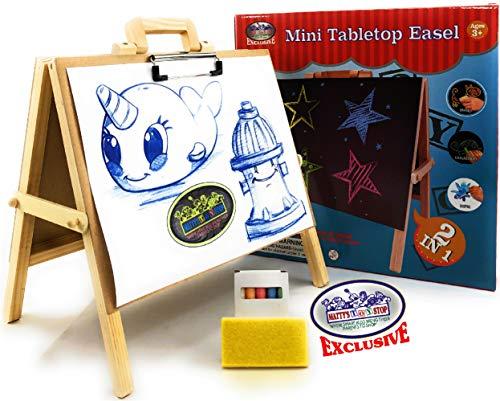 Mattys Toy Stop - Caballete de Mesa de Madera 2 en 1 con Pizarra ...