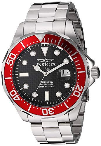 Invicta Men's 12565X Pro Diver Black Carbon Fiber Dial Stainless Steel Watch ()