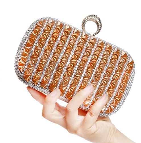 Bag Clutch Antique Party Bag Women Bridal Ladies Evening Clubs Gift Purse Prom Shoulder Diamante Handbag Envelope For Orange Wedding Glitter S5dqw0d