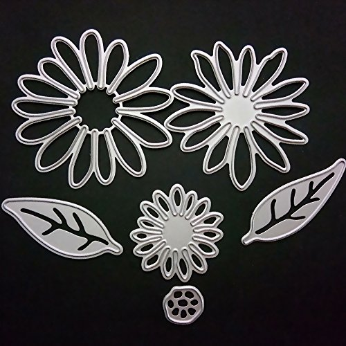 Metal Flower Leaves Shaped Die Cuts Cutting Dies Stamps Embossing Stencil for Card Scrapbooking and DIY Craft 6 ()