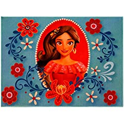 "Gertmenian Disney Princess Elena Avalor Rug HD Digital Girls Room Décor Bedding Floral Blue Area Rugs, 40"" x 54"", Cyan"