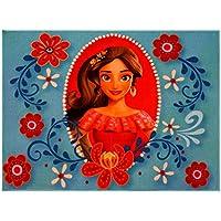 Gertmenian Disney Princess Elena Avalor Rug HD Digital Girls Room Décor Bedding Floral Blue Area Rugs, 40 x 54, Cyan