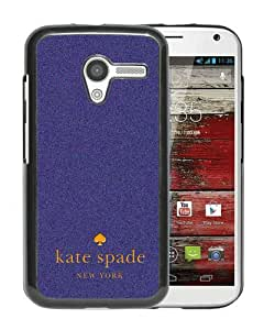 Personalized Design With Kate Spade 46 Black Motorola Moto X Protective Cover Case