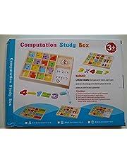 صندوق خشبي حاسوبي - لعبة تعليمية للاطفال عمر 3 لتعليم االرياضيات الحديثة بمساعدات بصرية