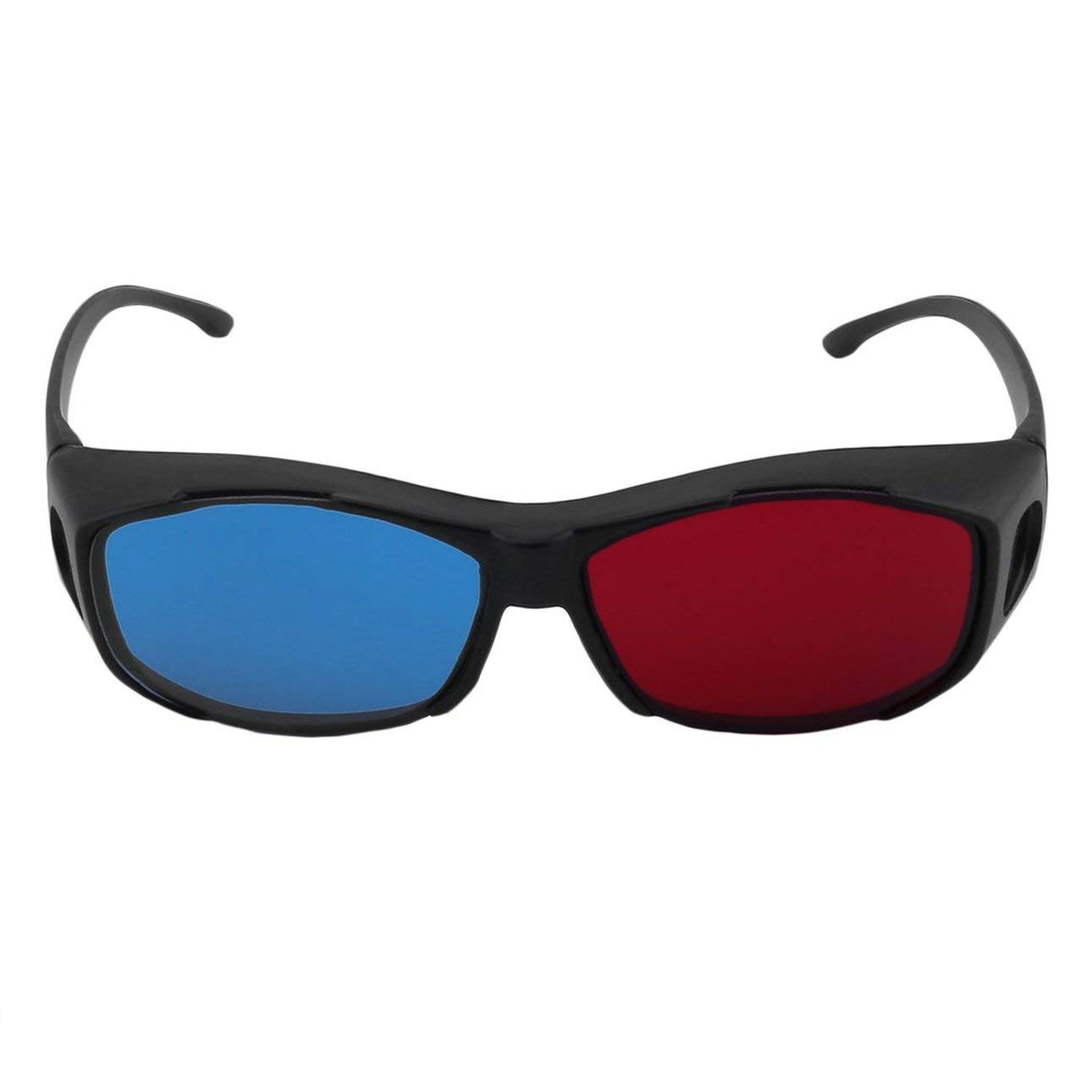 Liobaba Universal Type 3D Glasses TV Movie Dimensional Anaglyph Video Frame 3D Vision Glasses DVD Game Glass Red and Blue Color