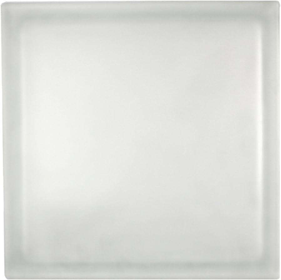 5 St/ück Fuchs Glassteine Vollsicht Weiss 2-seitig satiniert Milchglas 24x24x8 cm