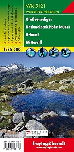 Freytag Berndt Wanderkarten, WK 5121, Großvenediger - Nationalpark Hohe Tauern - Krimml - Mittersill - Maßstab 1:35 000