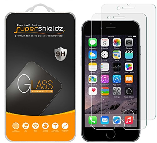 [2-Pack] iPhone 7 Tempered Glass Screen Protector, Supershieldz Anti-Scratch, Anti-Fingerprint, Bubble Free [3D Touch Compatible]