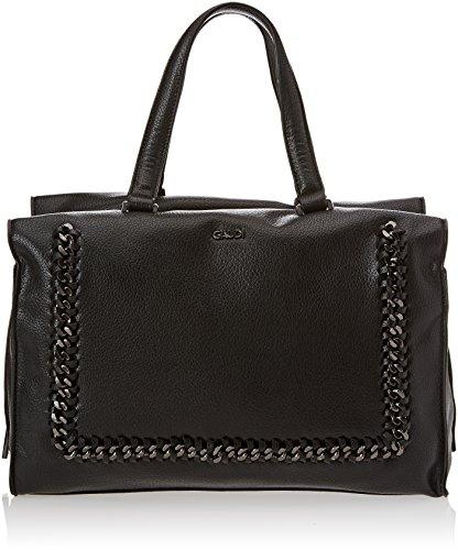 Gaudì Top Handle Bag - Linea Agata - Cm.33,50x23x17,50 - Bolso de mano Mujer Negro (Black)