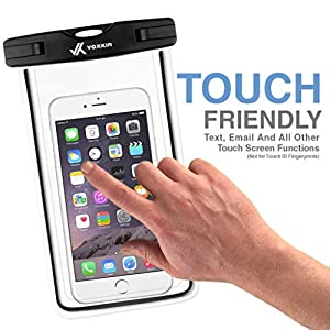 Voxkin PREMIUM QUALITY Universal Waterproof Case with ARMBAND Best Water Proof Dustproof Snowproof Pouch Bag for iPhone 7 6S 6 Plus 5S Samsung Galaxy Phone S7 S6 Note 5 4