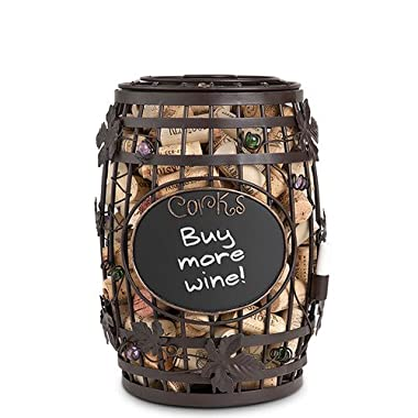 Chalkboard Wine Barrel Cork Cage Cork Holder