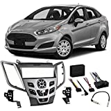 Ford Fiesta 2014-2015 Single DIN Stereo Harness Radio Install Dash Kit Silver