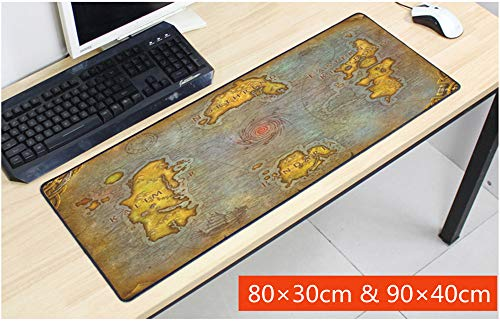 Mouse Pad,Professional Large Gaming Mouse Pad, World of Warcraft Mouse Pad,Extended Size Desk Mat Non-Slip Rubber Mouse Mat