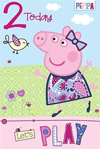 Amazon.com: Gemma International Peppa Pig Edad 2 Tarjeta de ...