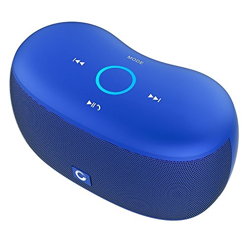 DOSS SoundBox xs Bluetooth Speaker, Portable Wireless Bluetooth 4.0 Touch Speakers with 10W HD Sound, Microphone, for Echo Dot iPhone iPad Samsung Tablet, Gift Ideas for Girls (Blue)