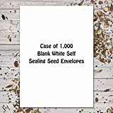 Case of 1,000+ Blank White Seed Envelopes (Self Sealing) - Customize Your Own Seed Packets!