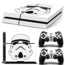 Ps4 Playstation 4 Console Skin Decal Sticker Star Wars StormTrooper + 2 Controller Skins Set