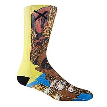 Odd Sox Men's Ruler So Socks Blue Gold Yellow