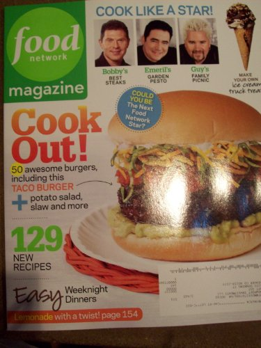 Food Network Magazine June 2010 Cook Out! 50 Awesome Burgers Easy Weeknight Dinners Lemonade with a Twist