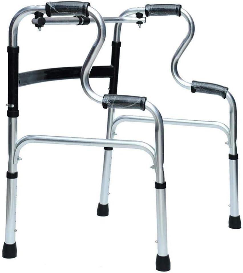N/ A Walking Aid Marco Ligero para Caminar con Rueda - Andador Plegable para Ancianos - Altura Ajustable - Walkera para Ancianos, ayudas para Caminar para Ancianos