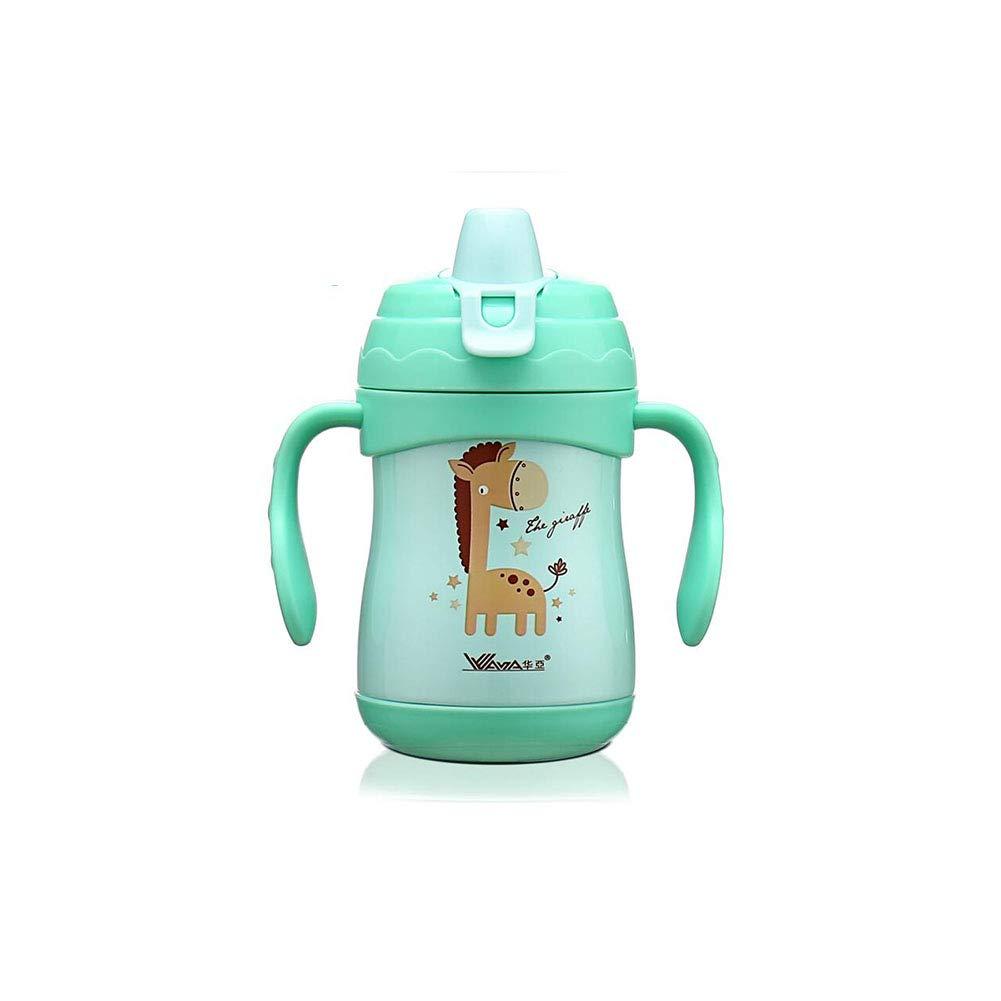 FF Kinder Becher mit Strohgriff auslaufsichere Tasse Säugling Trinken Milchflasche Baby Entenschnabel Tasse Trinken Tasse