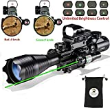 Photo : Hunting AR15 Tactical Rifle Scope Combo C4-16x50EG with Green Laser and 4 Holographic Red&Green Dot Sight (12 Month Warranty) for 22&11mm Weaver/Picatinny Rail Mount