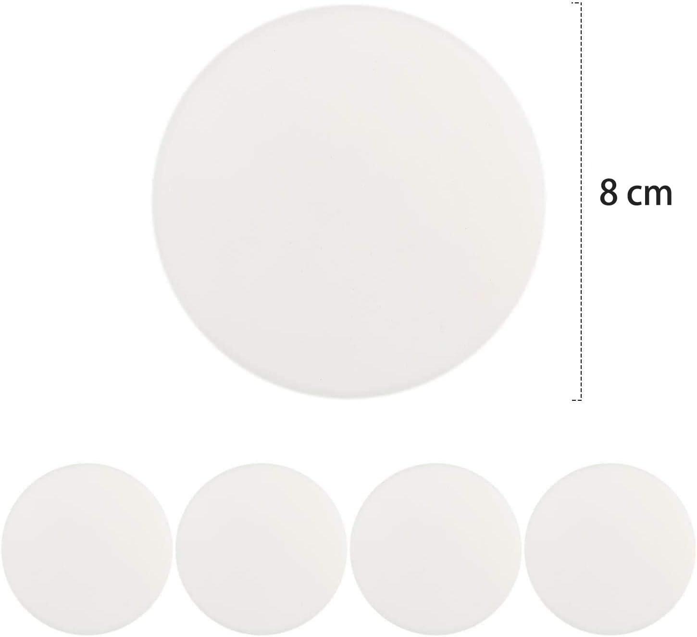 Paraurti Tappo di Gomma di Stop Porta Maniglia Paraurti, 3.15 Grande Maniglia di Silica Gel Paraurti 4 pezzi Con 3M Muro Autoadesivo Protezione Della Parete Gel di Silice Protezione Parete