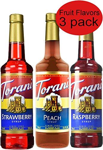 Torani Syrup Flavors Raspberry Strawberry