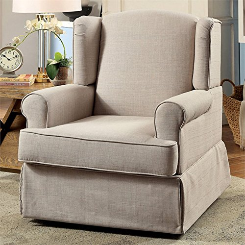 Pleasant Amazon Com Furniture Of America Lydia Swivel 360 Glider And Caraccident5 Cool Chair Designs And Ideas Caraccident5Info