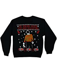 Changes Nightmare On Elm Street Freddy Krueger Men's Christmas Sweatshirt