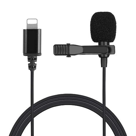 QAIYXM Profesional del micrófono de Solapa, con Clip para iPhone ...