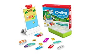Osmo - Coding Starter Kit for iPad - 3 Educational Learning Games - Ages 5-10+ - Learn to Code, Coding Basics & Coding Puzzles - STEM Toy iPad Base Included