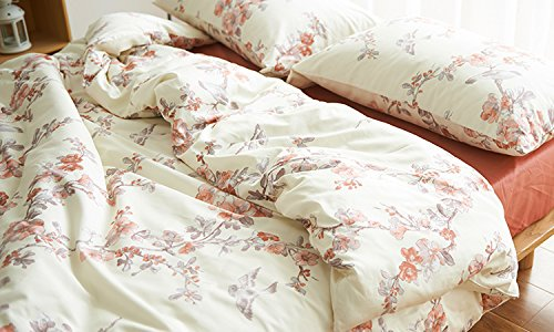 Garden Chinoiserie Floral Duvet Quilt Cover Asian Porcelain Style Tree Blossom