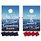 VictoryStore Custom Wedding Bag Toss Game – Custom Wedding Cornhole - They Tied The Knot