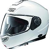 Nolan N104 Evo Solid Helmet Metallic White (White, Large)