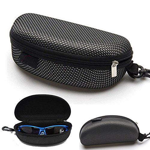 AMAZZANG-Portable Zipper Eye Glasses Sunglasses Clam Shell Hard Case Protector Box - Most World Expensive The In Eyeglasses