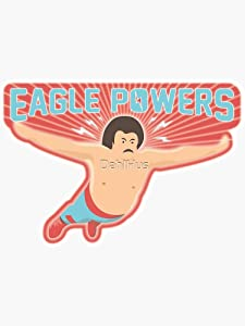 Nacho Libre Eagle Powers Sticker - Sticker Graphic -Stickers for Hydroflask Water Bottles Laptop Computer Skateboard, Waterproof Decal Stickers
