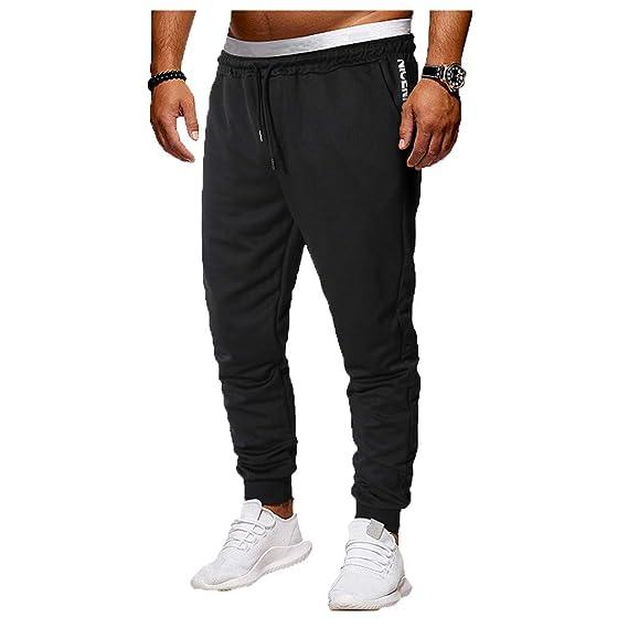 YanHoo Pantalones Deportivos para Hombres con Pantalones de Color sólido Pantalones Deportivos Deportivos para Hombres Ropa