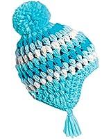 Turtle Fur Kids Hail Storm, Hand Crocheted Fleece Lined Earflap Pom Hat