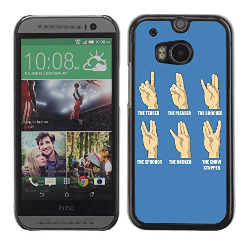 Unique Cartoon Phone Case For Htc One M8 (Black) - 9